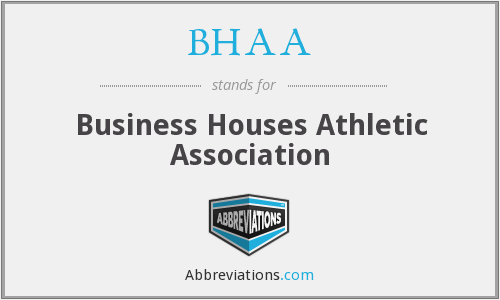 BHAA - Business Houses Athletic Association