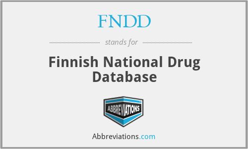 FNDD - Finnish National Drug Database