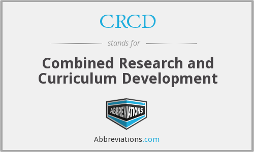 What does CRCD stand for?