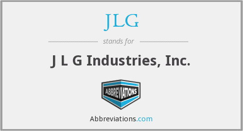 JLG - J L G Industries, Inc.