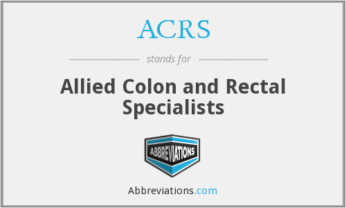 ACRS - Allied Colon and Rectal Specialists