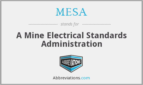 MESA - A Mine Electrical Standards Administration