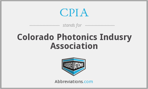 CPIA - Colorado Photonics Indusry Association