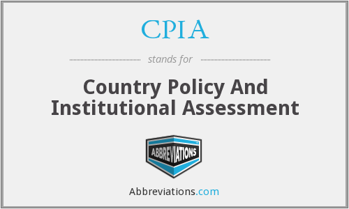 CPIA - Country Policy And Institutional Assessment