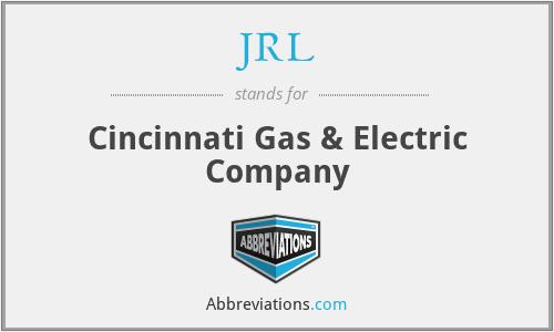 JRL - Cincinnati Gas & Electric Company