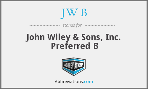 JW B - John Wiley & Sons, Inc. Preferred B