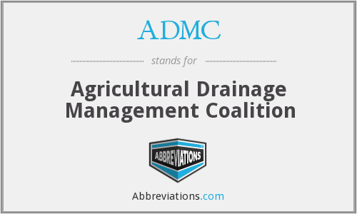 ADMC - Agricultural Drainage Management Coalition