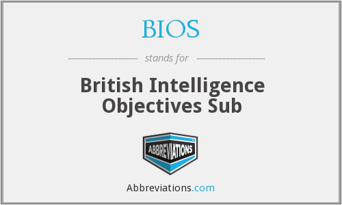 BIOS - British Intelligence Objectives Sub