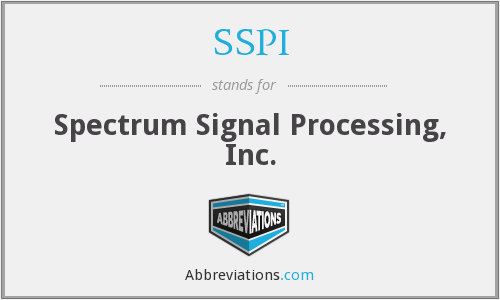 SSPI - Spectrum Signal Processing, Inc.