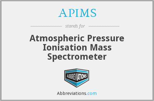 APIMS - Atmospheric Pressure Ionisation Mass Spectrometer
