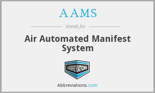AAMS - Air Automated Manifest System