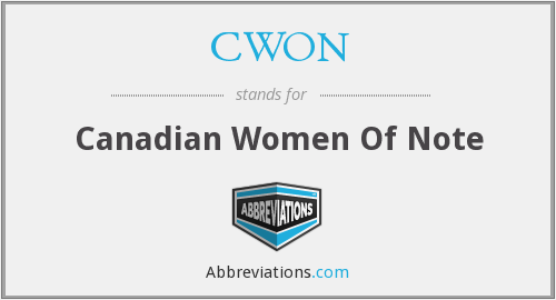 CWON - Canadian Women Of Note