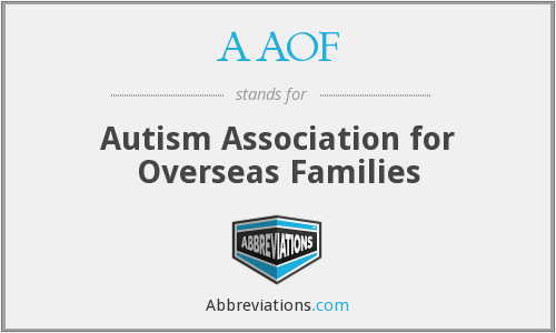 AAOF - Autism Association for Overseas Families