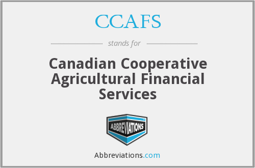 CCAFS - Canadian Cooperative Agricultural Financial Services