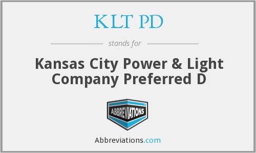 What does KLT PD stand for?