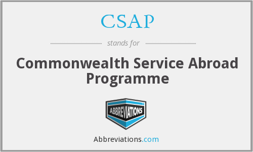 CSAP - Commonwealth Service Abroad Programme