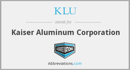 What does KLU stand for?