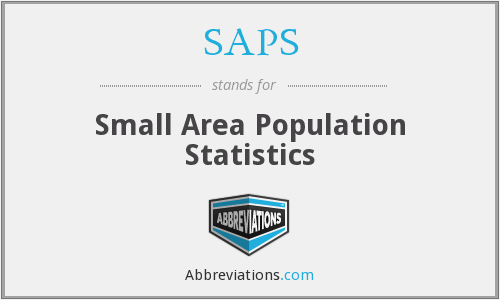 SAPS - Small Area Population Statistics