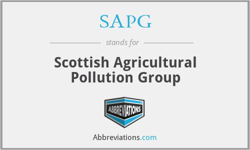 SAPG - Scottish Agricultural Pollution Group