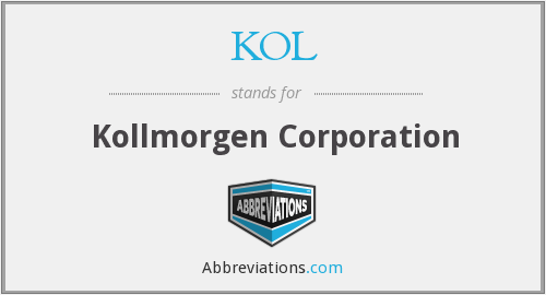 KOL - Kollmorgen Corporation