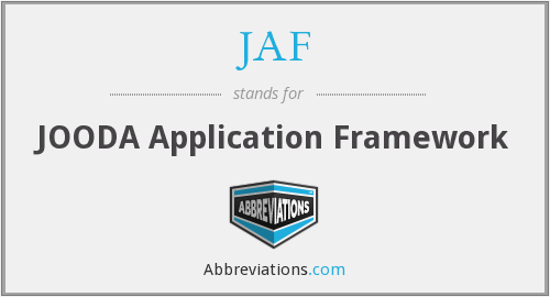 JAF - JOODA Application Framework