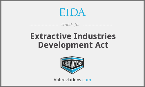 EIDA - Extractive Industries Development Act