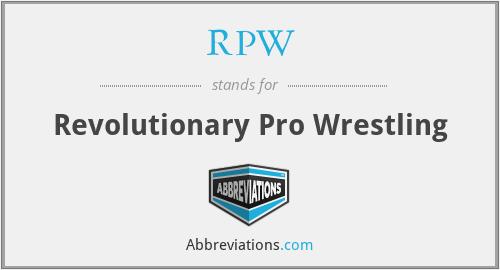 RPW - Revolutionary Pro Wrestling