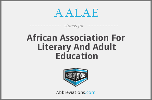 AALAE - African Association For Literary And Adult Education
