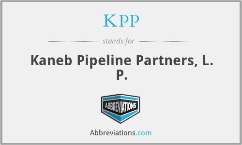 KPP - Kaneb Pipeline Partners, L. P.