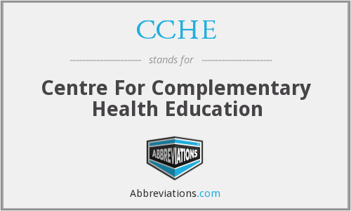 CCHE - Centre For Complementary Health Education
