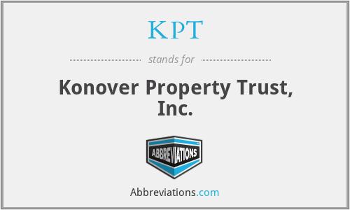KPT - Konover Property Trust, Inc.