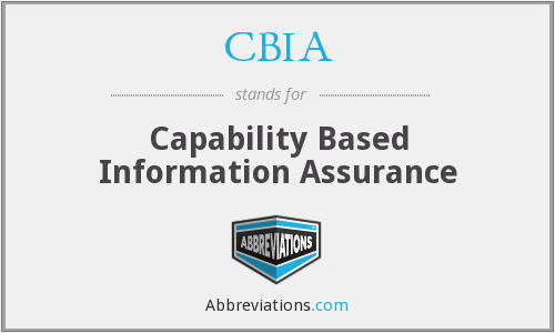 CBIA - Capability Based Information Assurance