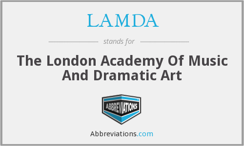 LAMDA - The London Academy Of Music And Dramatic Art