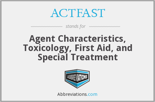 What does ACTFAST stand for?