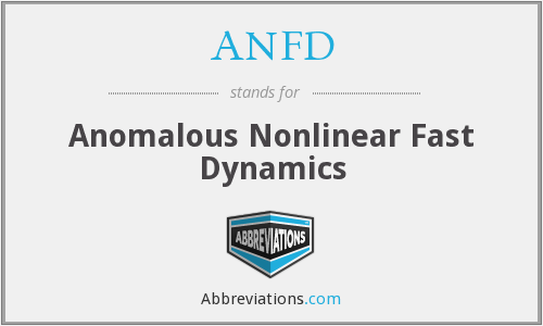 ANFD - Anomalous Nonlinear Fast Dynamics
