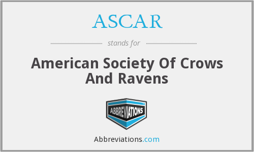 ASCAR - American Society Of Crows And Ravens