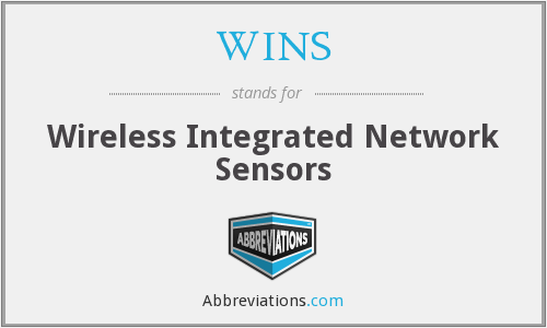 WINS - Wireless Integrated Network Sensors