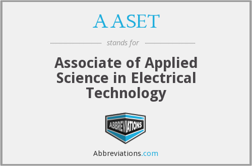 What does AASET stand for?