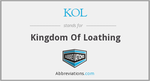KOL - Kingdom Of Loathing