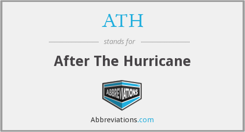 ATH - After The Hurricane