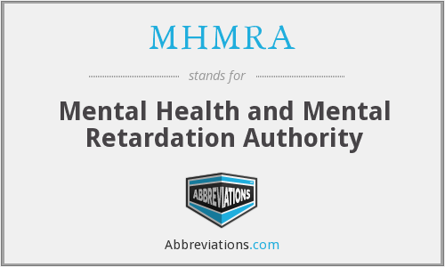 MHMRA - Mental Health and Mental Retardation Authority