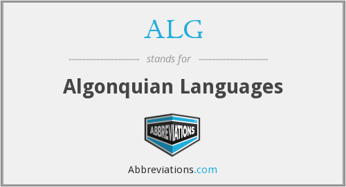 ALG - Algonquian Languages
