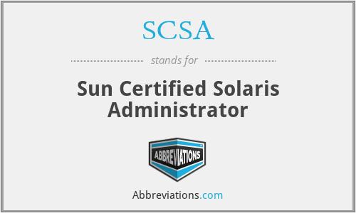 SCSA - Sun Certified Solaris Administrator