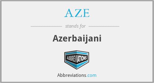 AZE - Azerbaijani