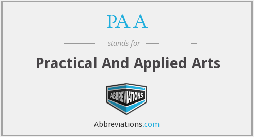 PAA - Practical And Applied Arts