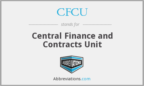 CFCU - Central Finance and Contracts Unit