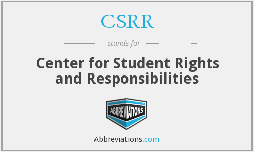 CSRR - Center for Student Rights and Responsibilities