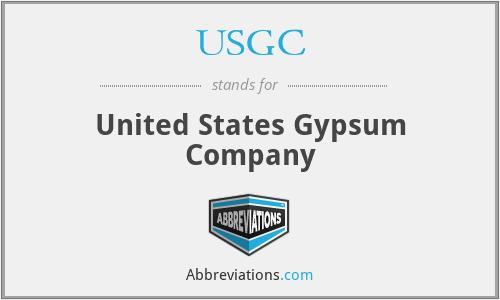 USGC - United States Gypsum Company