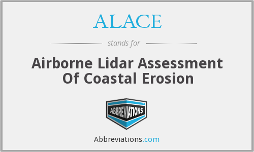 ALACE - Airborne Lidar Assessment Of Coastal Erosion