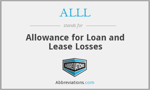 ALLL - Allowance for Loan and Lease Losses